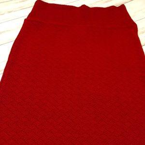LuLaRoe Skirts - NWT Lularoe XS red Cassie pencil skirt